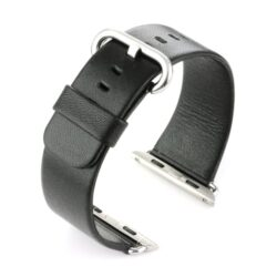 Black Leather Watch Strap To Fit Apple