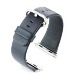 Blue Leather Compatible Apple Watch Strap