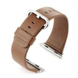 Brown Leather Watch Strap To Fit Apple