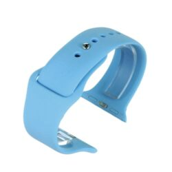 Blue Silicone Watch Strap To Fit Apple