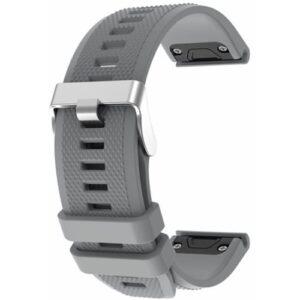 Grey Fenix 5 Compatible Watch Strap