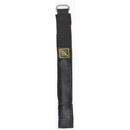 Black Hook And Loop Nylon Watch Strap