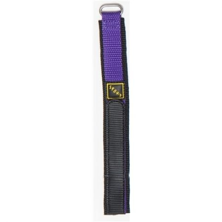 Purple Hook And Loop Nylon Watch Strap