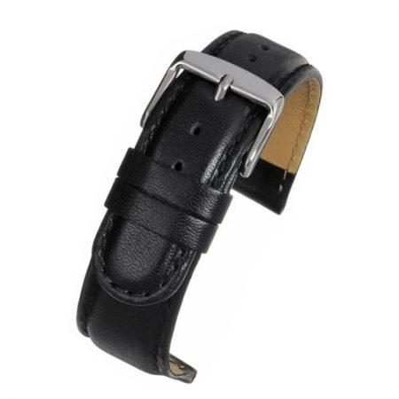 Black Calf Padded Watch Strap Main Range