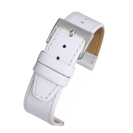 Mayfair Subtle White Calf Stitched Watch Strap