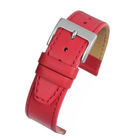 Mayfair Subtle Red Calf Stitched Watch Strap