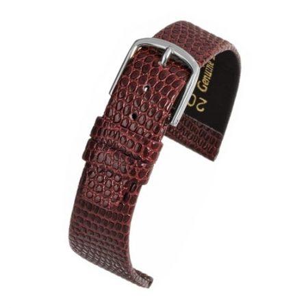 Lizard Grain Burgundy Watch Strap Main Range