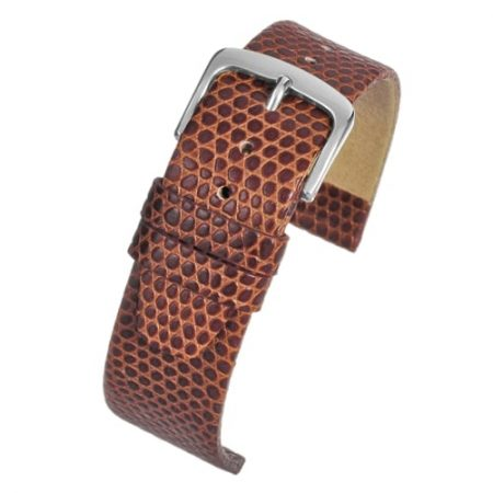 Lizard Grain Light Brown Watch Strap Main Range