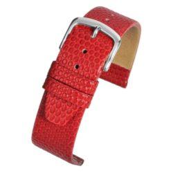 Lizard Grain Red Watch Strap Main Range