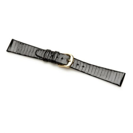 Black Genuine Lizard Skin Watch Strap Premium Range