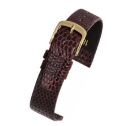Burgundy Italian Genuine Lizard Watch Strap Premium Range