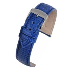 Blue Italian Genuine Lizard Watch Strap Premium Range
