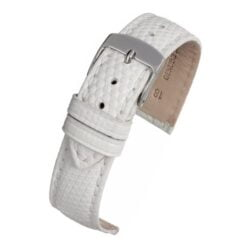 White Italian Genuine Lizard Watch Strap Premium Range