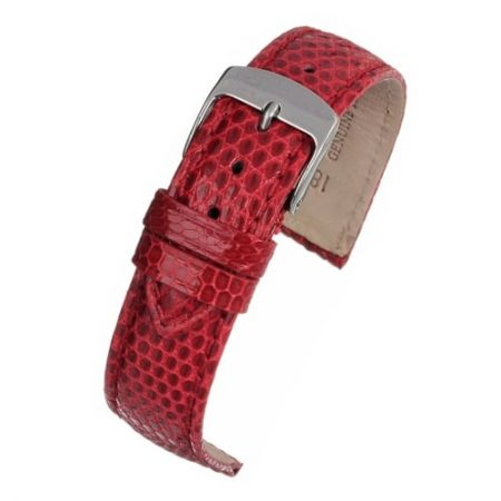 Red Genuine Lizard Watch Strap Premium Range