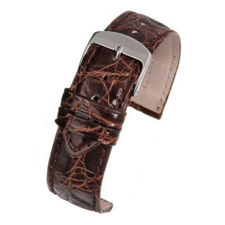 Brown Genuine Crocodile Skin Watch Strap Premium Range
