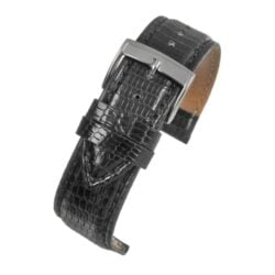 Black Italian Genuine Lizard Watch Strap Premium Range