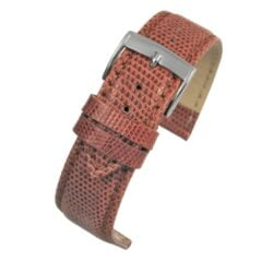 Autentico Tan Italian Genuine Lizard Watch Strap