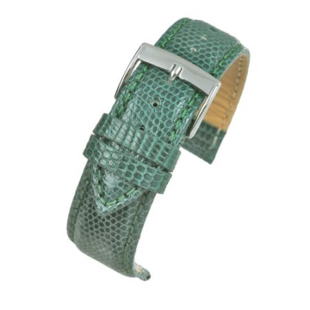 Autentico Green Italian Genuine Lizard Watch Strap