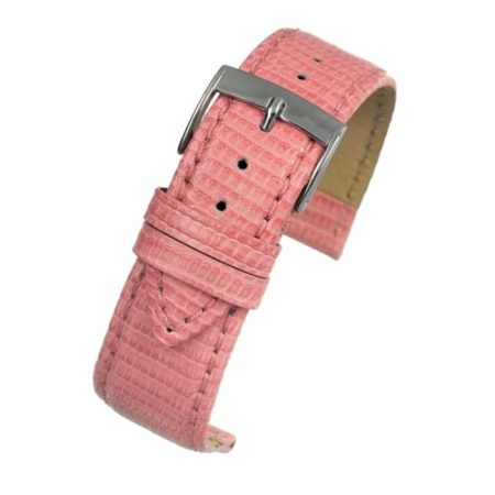 Autentico Light Pink Italian Genuine Lizard Watch Strap
