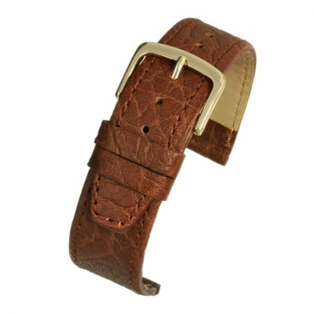 Brown Vegetable Leather Watch Strap