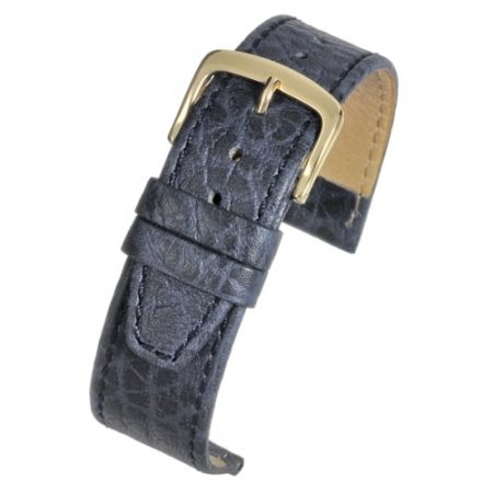 Blue Vegetable Leather Watch Strap