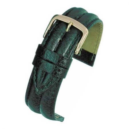 Dark Green Ribbed Vegetable Leather Watch Strap