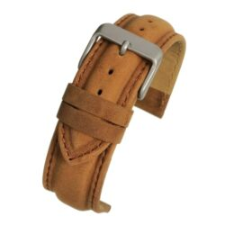 Kensington Suede Light Brown Padded Watch Strap