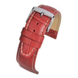 Mayfair Alligator Grain Nubuck Red Watch Strap