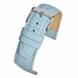Mayfair Alligator Grain Nubuck Light Blue Watch Strap