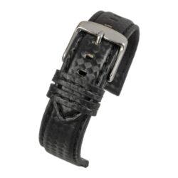Anthracite Carbon Black Stitch Black Watch Strap