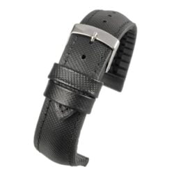 Anthracite Performance – Black Watch Strap With Black Edge