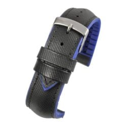 Anthracite Performance Black With Blue Stitch Watch Strap