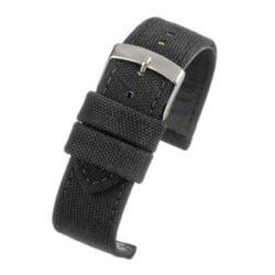 Weaverham Fibre Black Fabric Watch Strap