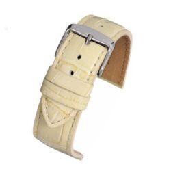 Windsor Colour Cream Crocodile Grain Watch Strap