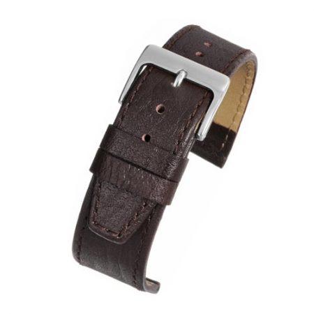 Brown Buffalo Grain Extra Long Watch Strap