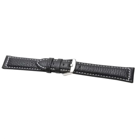 Heavy Cut Black Extra Extra Long Watch Strap