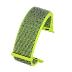 Florescent Yellow Compatible Fabric Apple Watch Strap