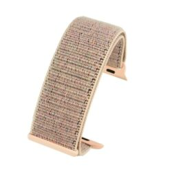 Light Pink Compatible Fabric Apple Watch Strap