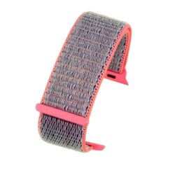 Light Grey And Pink Compatible Fabric Apple Watch Strap
