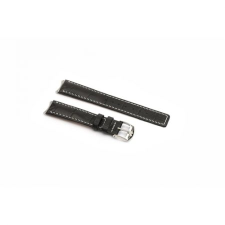 Black Crocodile Grain With White Stitch To Fit 6000 Series Mid Size Tag Heuer