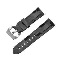 Submerge Camo Silicone Grey Watch Strap