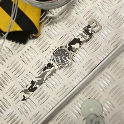 Submerge Camo Silicone White Watch Strap