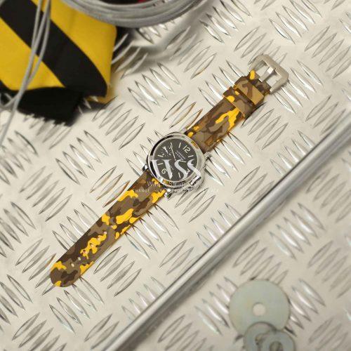 Submerge Camo Silicone Yellow Watch Strap