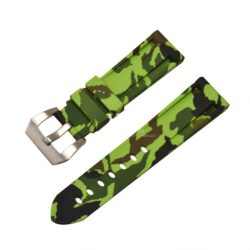 Submerge Camo Silicone Lime Green Watch Strap