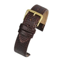 Brown Lizard Grain Gloss Value Leather Watch Strap