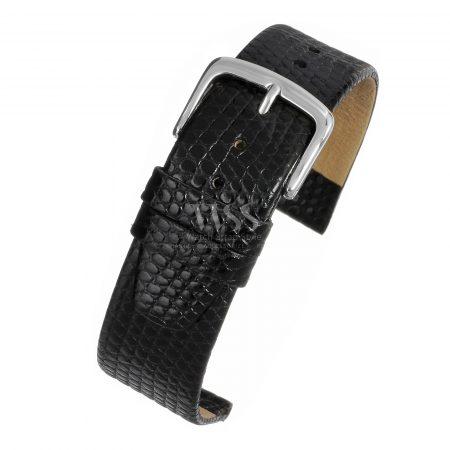 Lizard Grain Black Watch Strap