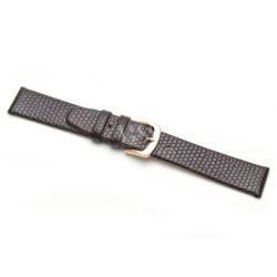 Lizard Grain Brown Leather Watch Strap