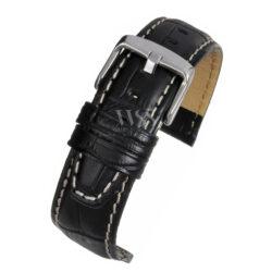 Mayfair Alligator Grain Black Nubuck Watch Strap