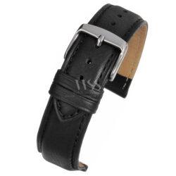 Henley Superior Calf Black Padded Watch Strap