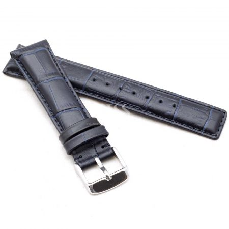 Dark Blue Classic Crocodile To Fit IWC Watches
